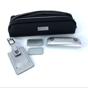 Tumi Metallic Silver Accent Kit Luggage Tag